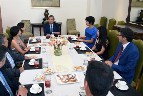 Destacados puntajes PSU se reunieron con Autoridades Universitarias