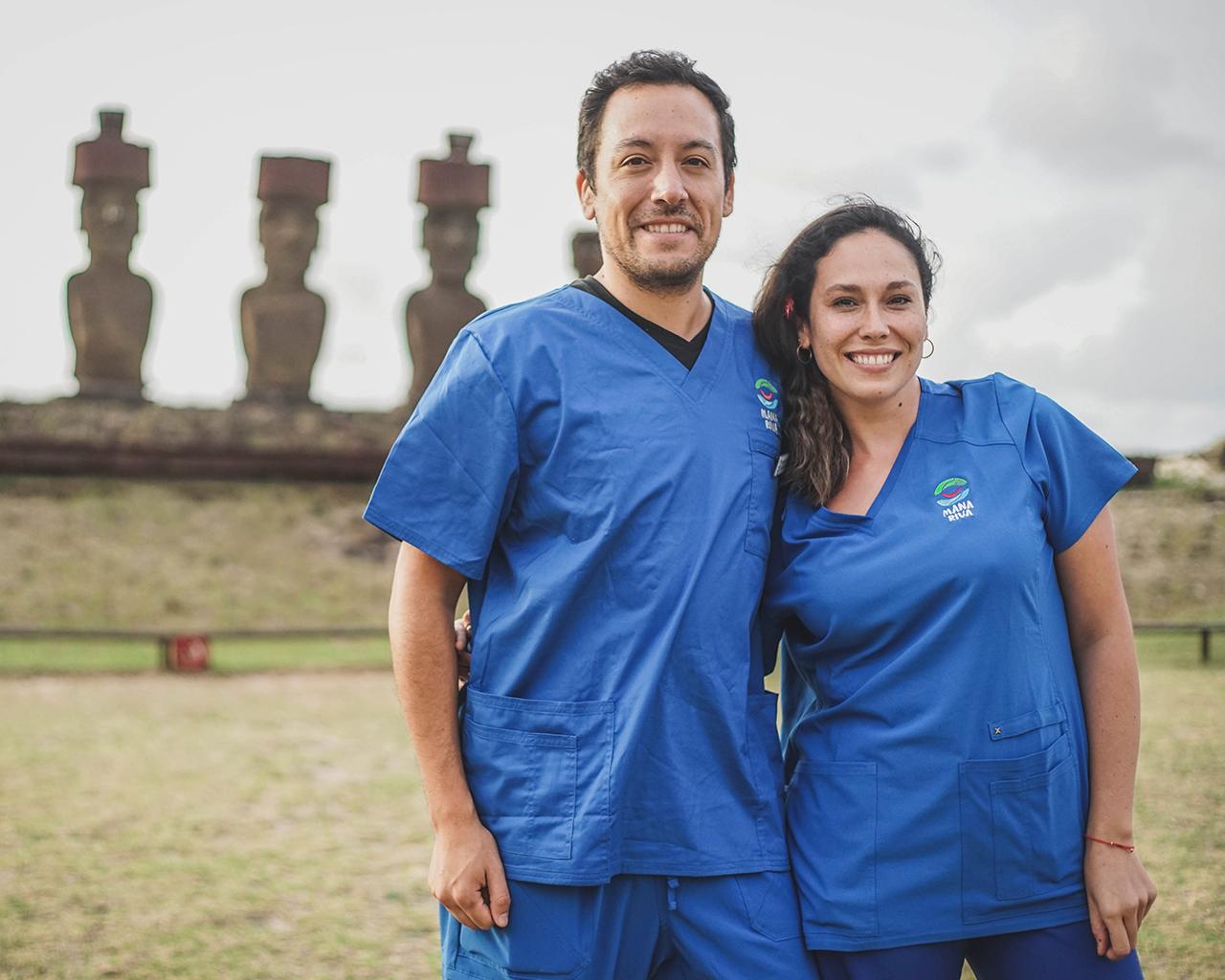 Utalinos en Rapa Nui