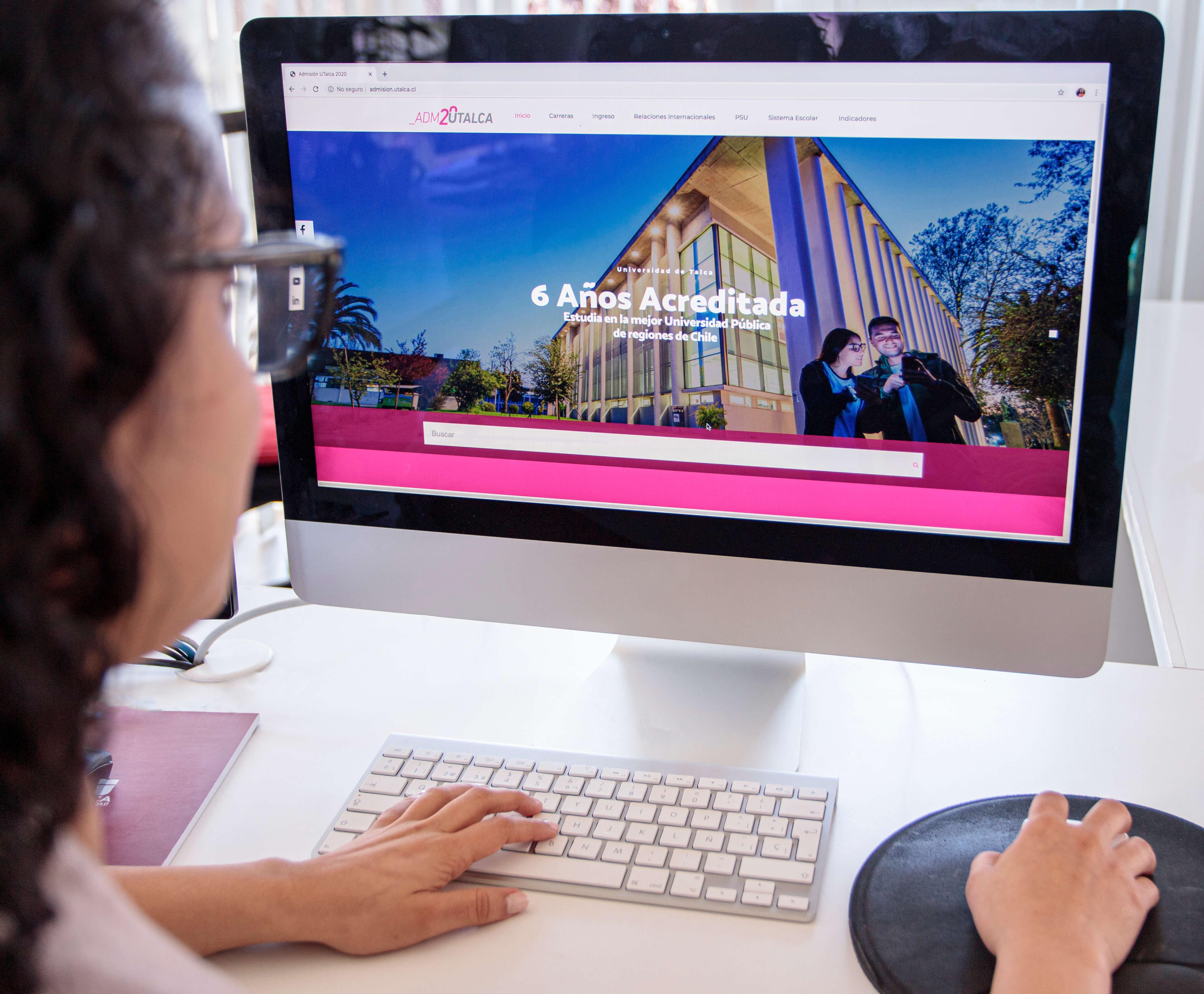 Estrenan nuevo sitio web Admisión 2020