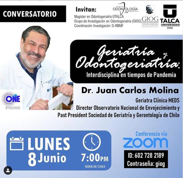 CONVERSATORIO: GERIATRÍA Y ODONTOGERATRÍA, INTERDICIPLINA EN TIEMPOS DE PANDEMIA