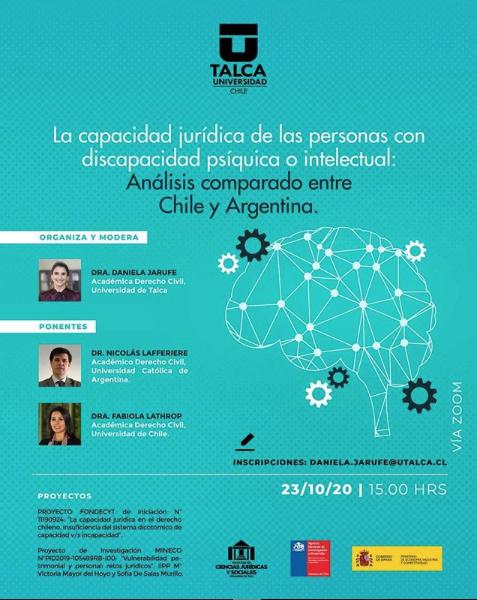 LA CAPACIDAD JURÍDICA DE LAS PERSONAS CON DISCAPACIDAD PSÍQUICA O INTELECTUAL: ANÁLISIS COMPARATIVO ENTRE CHILE Y ARGENTINA