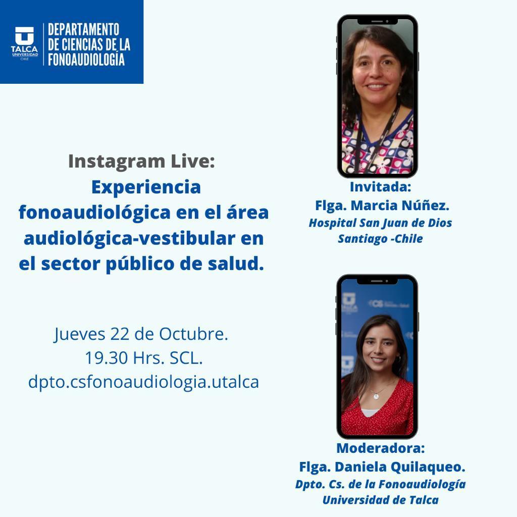 INSTAGRAM LIVE, EXPERIENCIA FONOAUDIOLÓGICA EN EL ÁREA AUDIOLÓGICA-VESTIBULAR EN EL SECTOR PÚBLICO DE SALUD