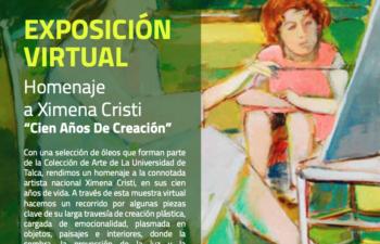 """Exposición Virtual, Homenaje a Ximena Cristi """"Cien Años de Creación"""""""