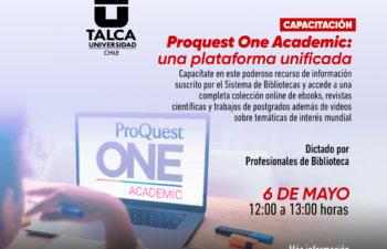 Capacitación: Proquest One Academic: Una Plataforma Unificada