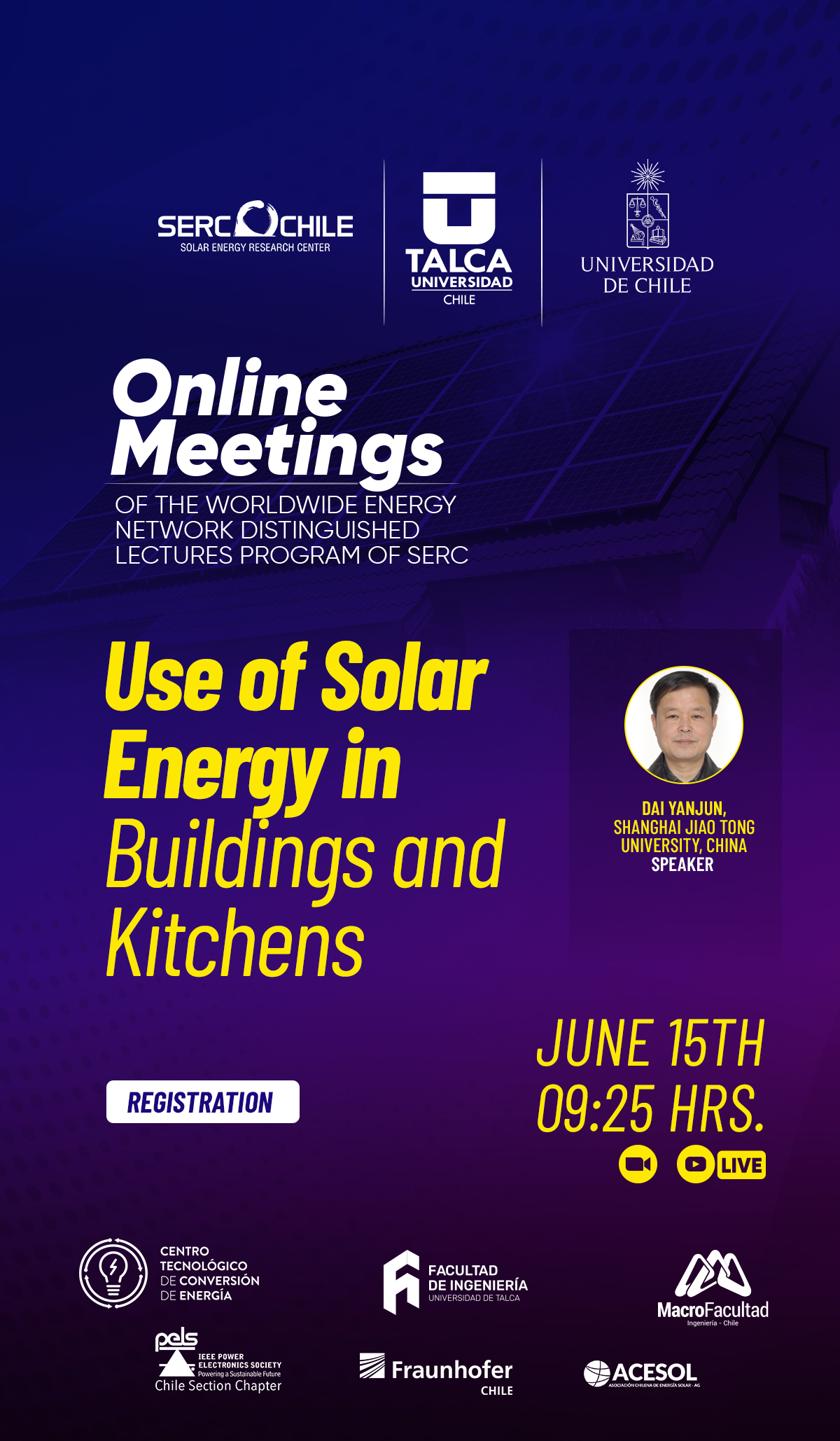 Online Meetings, Use of Solar Energy in Buildings and Kitchens