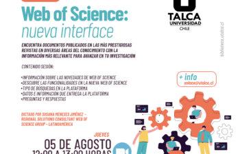 Capacitación Web of Science: nueva interface