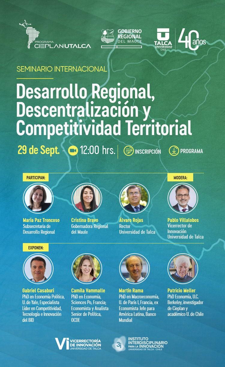 Seminario Internacional, Desarrollo Regional Descentralización y Competitividad Territorial