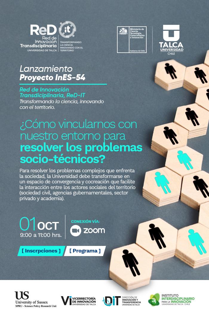 Lanzamiento del proyecto InES -54,  ¿Cómo vincularnos con nuestro entorno para resolver los problemas socio-técnicos?