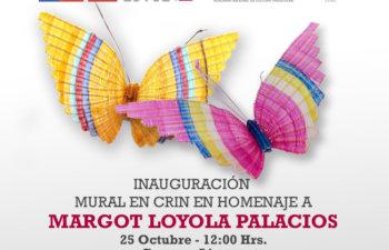 Inauguración Mural en Crin en Homenaje a Margot Loyola Palacios